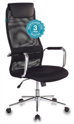Кресло руководителя Бюрократ KB-9N/BLACK чёрный кресло руководителя бюрократ kb 8 синий