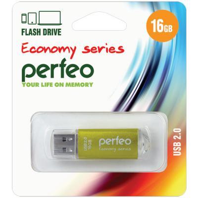 Фото - Флешка 16Gb Perfeo E01 USB 2.0 золотистый PF-E01Gl016ES флешка 8gb perfeo e01 usb 2 0 серебристый pf e01s008es