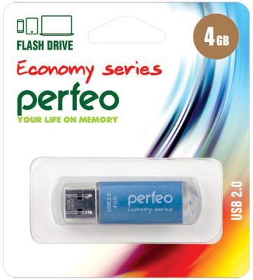 Фото - Флешка 4Gb Perfeo E01 USB 2.0 голубой PF-E01N004ES флешка 8gb perfeo e01 usb 2 0 серебристый pf e01s008es