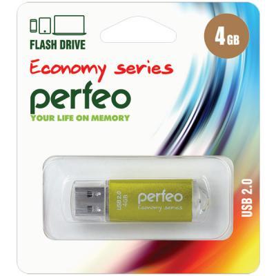Фото - Флешка 4Gb Perfeo E01 USB 2.0 золотистый PF-E01Gl004ES флешка 8gb perfeo e01 usb 2 0 серебристый pf e01s008es