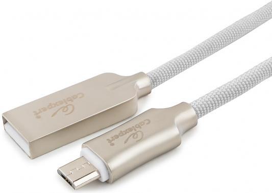Кабель microUSB 1м Cablexpert CC-P-mUSB02W-1M круглый белый