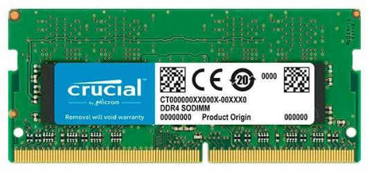 Фото - Оперативная память для ноутбука 4Gb (1x4Gb) PC4-21300 2666MHz DDR4 SO-DIMM CL19 Crucial CT4G4SFS8266 модуль памяти so dimm ddr4 4gb pc21300 2666mhz crucial ct4g4sfs8266