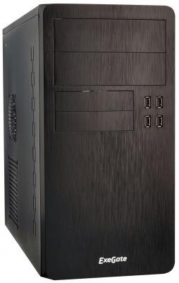 Exegate EX277191RUS Корпус Minitower SP-415U Black, mATX <UN500, 120mm> 4*USB+2*USB3.0, HD Audio, петля