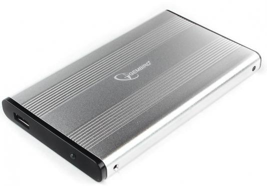 "Gembird EE2-U3S-5-S Внешний корпус 2.5"" серебро, USB 3.0, SATA, до 2 Тб, металл цена и фото"