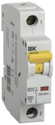 Картинка для Iek MVA41-1-020-B Авт.выкл. ВА 47-60 1Р 20А 6 кА х-ка B IEK