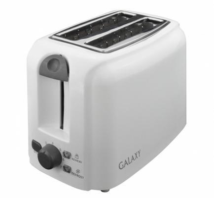 лучшая цена Тостер GALAXY GL 2905 белый б/у, трещина на стенке
