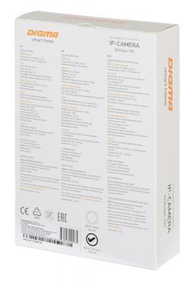 Видеокамера IP Digma DiVision 101 2.8-2.8мм цветная корп.:белый/черный видеокамера ip digma division 101 2 8 2 8мм цветная корп белый черный