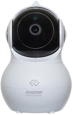 Камера IP Digma DiVision 400 CMOS 1/2.7 2.8 мм 1920 x 1080 H.264 MJPEG RJ-45 Wi-Fi белый черный камера видеонаблюдения digma division 400 2 8 2 8мм белый черный