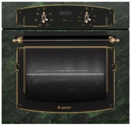 Духовой шкаф Электрический Gefest ЭДВ ДА 622-02 К69 зеленый/рисунок встраиваемый электрический духовой шкаф gefest эдв да 622 02 к53
