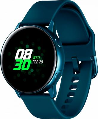 Смарт-часы Samsung Galaxy Watch Active 39.5мм 1.1 Super AMOLED зеленый (SM-R500NZGASER) смарт часы samsung galaxy gear fit 2 pro 1 5 super amoled черный sm r365nzraser
