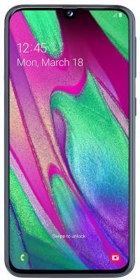 Смартфон Samsung Galaxy A40 64 Гб черный (SM-A405FZKGSER) смартфон samsung galaxy j1 2016 8 гб черный sm j120fzkdser