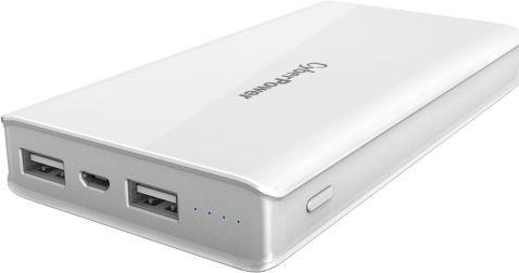Внешний аккумулятор Power Bank 15000 мАч CyberPower CP15000PEG белый внешний аккумулятор samsung eb pn930csrgru 10200mah серый
