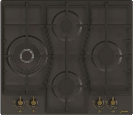 лучшая цена Варочная панель газовая Gorenje GW6D41CLB черный
