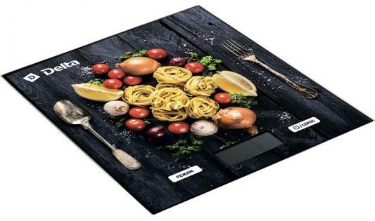 Весы кухонные DELTA Спагетти рисунок КСЕ-35 весы delta ксе 36 черника