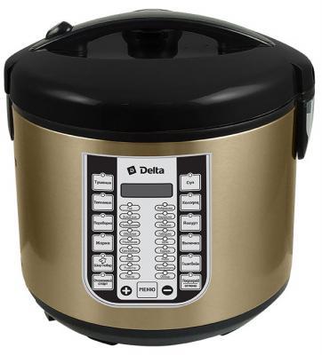 Мультиварка DELTA DL-6518 черный коричневый 900 Вт 5 л цена и фото
