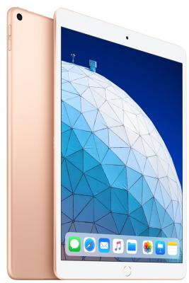Планшет Apple iPad Air 2019 10.5 64Gb Gold Wi-Fi Bluetooth iOS MUUQ2RU/A планшет apple ipad air wi fi cellular 64gb 10 5 серебрянный 2019 mv0e2ru a a12 2 49 64gb 10 5 retina wi fi bt 3g lte 7 8mpx ios 12