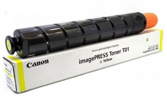 Фото - Тонер Canon T01 Y 8069B001 желтый туба 1040гр. для копира IPC800 картридж canon 034 9451b001 туба для копира ir c1225if желтый