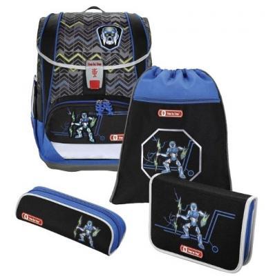 Ранец дышащая спинка Step by Step Light2 Strongly Robot ч 18 л синий черный