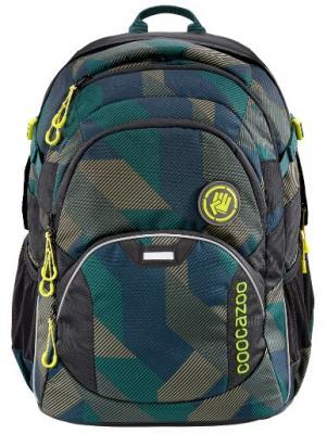 Купить Рюкзак светоотражающие материалы Coocazoo JobJobber2 Polygon Bricks 30 л темно-зеленый серый, серый, темно-зеленый, полиэстер, Ранцы, рюкзаки и сумки