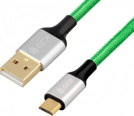 Кабель USB 2.0 microUSB 2м Green Connection 33-050577 круглый зеленый