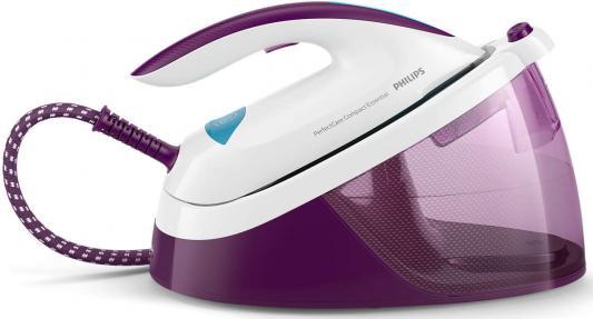 Парогенератор Philips GC6833/30 2400Вт фиолетовый белый утюг philips gc4519 30 2400вт фиолетовый белый