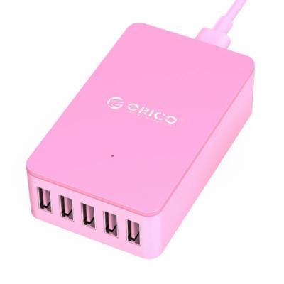 лучшая цена Зарядное устройство Orico ORICO CSE-5U-PK 5 х USB 2.4А розовый