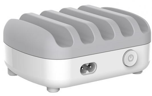 Зарядное устройство Orico DUK-5P-WH 5 х USB 2.4А белый автомобильное зарядное устройство orico uch q3 wh 2x2 4a 2a qc3 0 usb белый