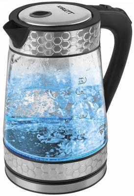 Чайник электрический Scarlett SC-EK27G58 2200 Вт стальной 1.7 л стекло чайник термос scarlett is 509 920вт 3 5л стекло