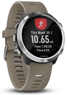 Смарт-часы Garmin Forerunner 645 Sandstone 42.5мм 1.2 TFT черный/серебристый (010-01863-11) garmin умные часы garmin 010 01689 11 коллекция forerunner 35