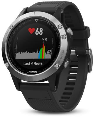 Смарт-часы Garmin Fenix 5 47мм 1.2 TFT темно-серый (010-01688-03)