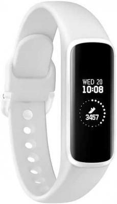 Смарт-часы Samsung Galaxy Fit-e 0.74 PMOLED белый (SM-R375NZWASER) смарт часы samsung galaxy gear s3 frontier sm r760 1 3 титан матовый черный [sm r760ndaaser]