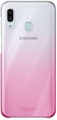 Чехол (клип-кейс) Samsung для Samsung Galaxy A30 Gradation Cover розовый (EF-AA305CPEGRU) клип кейс samsung dual layer ef pj330 для galaxy j3 2017 голубой