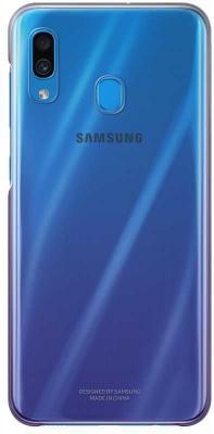 Чехол (клип-кейс) Samsung для Samsung Galaxy A30 Gradation Cover фиолетовый (EF-AA305CVEGRU) клип кейс samsung dual layer ef pj330 для galaxy j3 2017 голубой