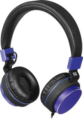 Гарнитура Defender Accord 165 черный синий 63166