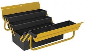 FIT IT Ящик для инструмента металлический с 4-мя раздвижными отделениями 420х200х200 мм [65679] ящик stanley 1 92 076 16 для инструмента с 2 мя консольными и 2 мя органайзерами