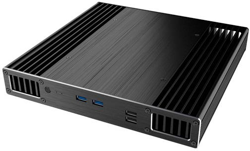 Case Akasa Plato X7D, UCFF 4 X 4, Fanless, support MB Intel BLKNUC7i*DNBE, 2xUSB3.0, 2xUSB2.0, 1xRS-232, w/o PSU, slim design accord a 301b w o psu black