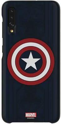 Чехол (клип-кейс) Samsung для Galaxy A70 Marvel Case Captain America узор (GP-FGA705HIALW)