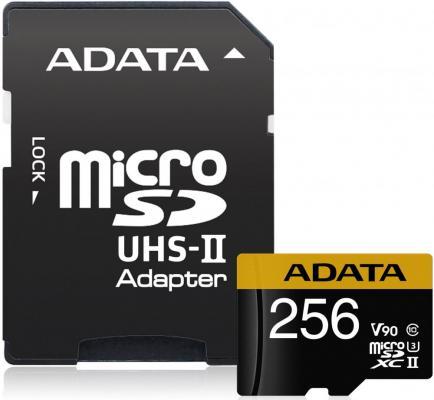 Флеш карта microSD 256GB A-DATA Premier ONE microSDXC Class 10 UHS-II U3 V90 275MB/s (SD адаптер) цены