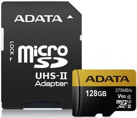Фото - Флеш карта microSD 128GB A-DATA Premier ONE microSDXC Class 10 UHS-II U3 V90 275MB/s (SD адаптер) leslie bond bermuda voyagers ii in search of the u s s cyclops
