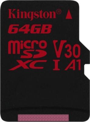 Фото - Флеш карта microSD 64GB Kingston microSDXC Class UHS-I U3 V30 Canvas React 80MB/s карта памяти sdxc kingston canvas react plus 256 гб uhs ii class u3 v90 с usb ридером