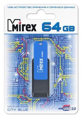 Фото - Флешка 64Gb Mirex City USB 2.0 синий черный 13600-FMUCIB64 комбинезон city goddess city goddess ci009eweqjw7