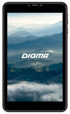 "Планшет Digma Plane 8580 4G MTK8735V (1.0) 4C/RAM2Gb/ROM16Gb 8"" IPS 1280x800/3G/4G/Android 7.0/черный/2Mpix/0.3Mpix/BT/GPS/WiFi/Touch/microSD 128Gb/minUSB/3200mAh"