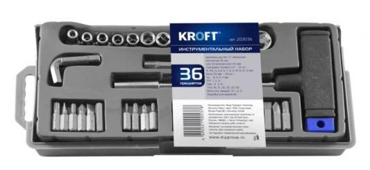 Набор головок и бит Kroft 203036 36шт набор головок и бит kroft 26 предметов