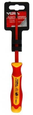 Отвертка шлицевая диэлектрическая Vira 397006 отвертка шлицевая диэлектрическая stayer professional max grip 25827 g