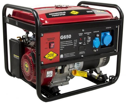 Генератор бензиновый DDE G650 (917-422) 1ф 6,0/6,5 кВт бак 25 л 81 кг дв-ль 14 л.с. цены