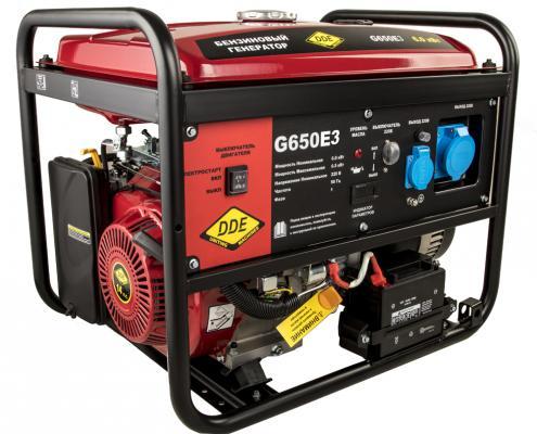 Генератор бензиновый DDE G650E3 (917-446) 1+3ф 6,0/6,5 кВт бак 25 л 89 кг дв-ль 14 л.с.элстарт цены