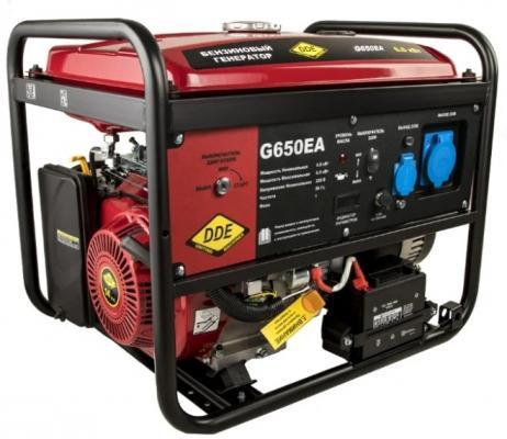 Генератор бензиновый DDE G650EA (917-477) 1ф 6,0/6,5 кВт бак 25 л 92 кг дв-ль 14 л.с. элстарт автом цены