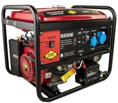 Генератор бензиновый DDE G650Е (917-439) 1ф 6,0/6,5 кВт бак 25 л 88 кг дв-ль 14 л.с. элстарт генератор инверторного типа dde dpg1001si