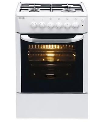 Плита Комбинированная Beko FFSS52010GW белый реш.эмаль комбинированная плита beko fcss 42014 fw