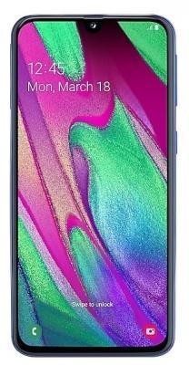 Смартфон Samsung Galaxy A40 64 Гб синий (SM-A405FZBGSER) смартфон samsung galaxy note 9 512 гб медный sm n960fznhser